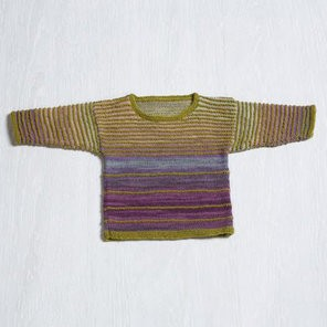 Classic Elite Angel Baby Sweater in Liberty Wool Light