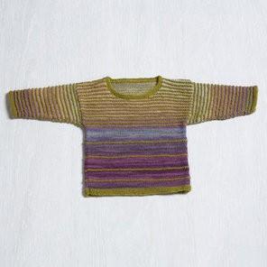 Classic Elite Angel Baby Sweater in Liberty Wool Light