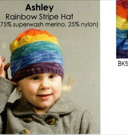 Classic Elite Ashley Rainbow Hat Kit in Yuri