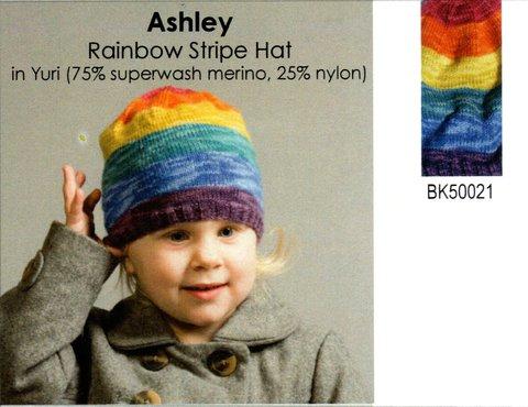 Classic Elite Ashley Rainbow Hat Kit in Yuri