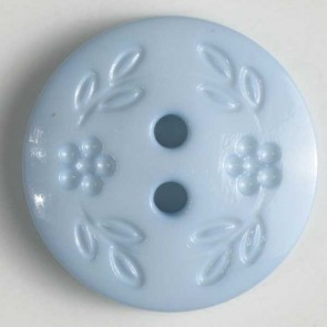 Dill Buttons 228318 Blue Stamped Flower 15 mm