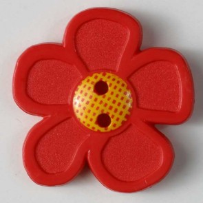 Dill Buttons 280866 Red GoGo Flower 20 mm