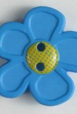 Dill Buttons 280861 Blue GoGo Flower 20 mm