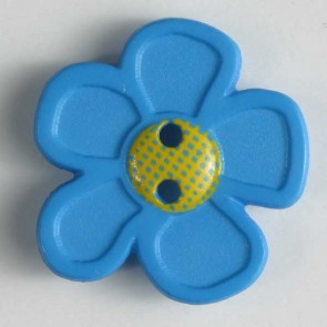 Dill Buttons 280861 Blue GoGo Flower 20 mm