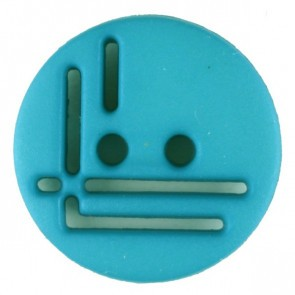 Dill Buttons Aqua Cutout Button 14 mm 215714