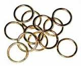 GOLD Plate Ring Markers fit up to US 6/4 mm Qty 16
