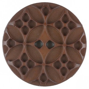 Dill Buttons 266703 Brown Embossed 20 mm