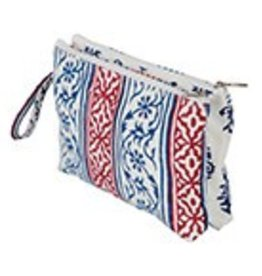 knitters pride Knitters Pride Radiance Double Zipper Pouch Small Blue & Red 8071