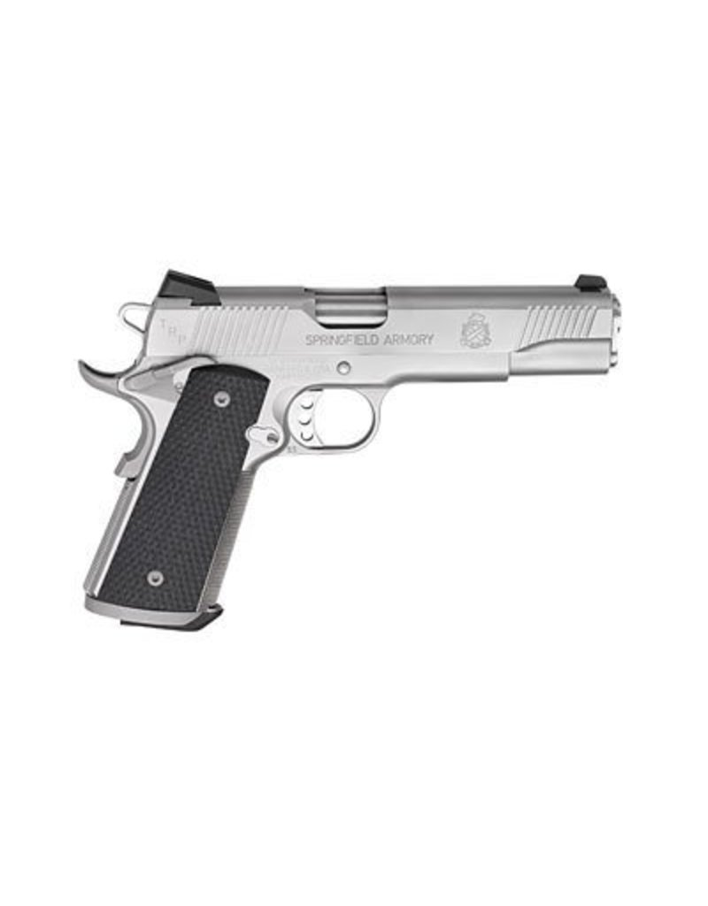 "SPRINGFIELD SPRINGFIELD TRP 1911-A1 .45 5"" STAINLESS STEEL WITH NIGHT SIGHTS"