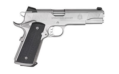 """SPRINGFIELD SPRINGFIELD TRP 1911-A1 .45 5"""" STAINLESS STEEL WITH NIGHT SIGHTS"""