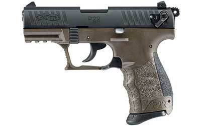 """WALTHER P22 MILITARY 22LR 10+1 3.4"""" OD GREEN CA"""