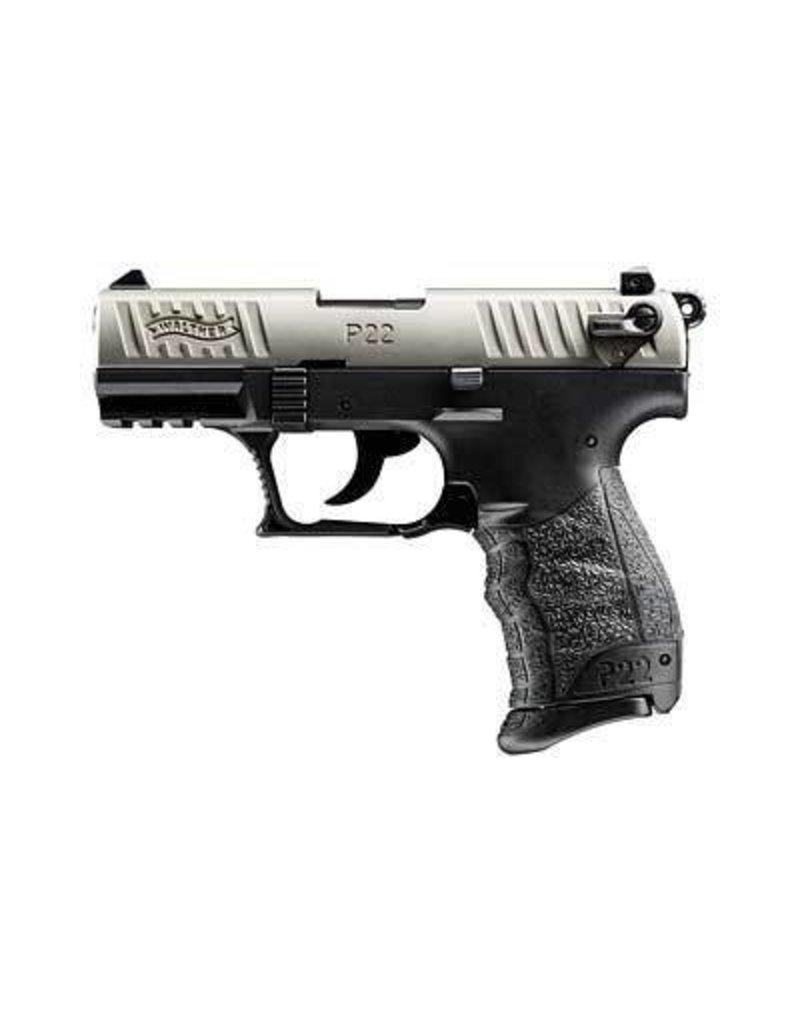 """WALTHER P22 22LR 10+1 3.4"""" NICKEL CA"""