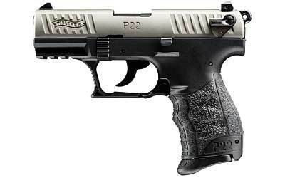"WALTHER P22 22LR 10+1 3.4"" NICKEL CA"