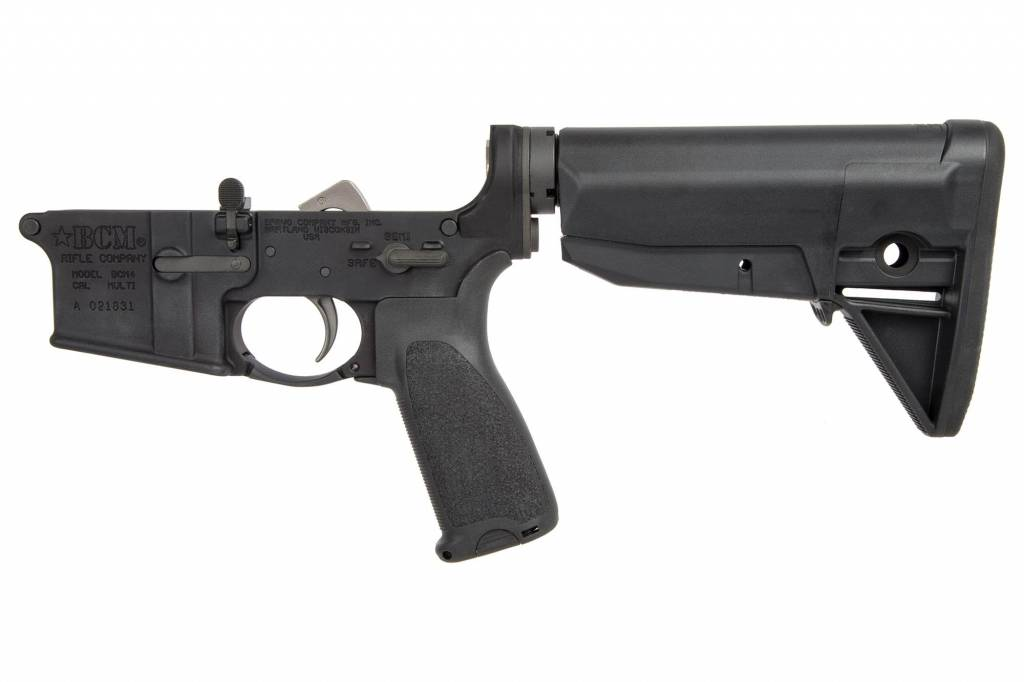 BCM MOD 4 AR14 COMPLETE LOWER WITH STOCK ASSEMBLY/LOWER PARTS KIT AND PISTOL GRIP