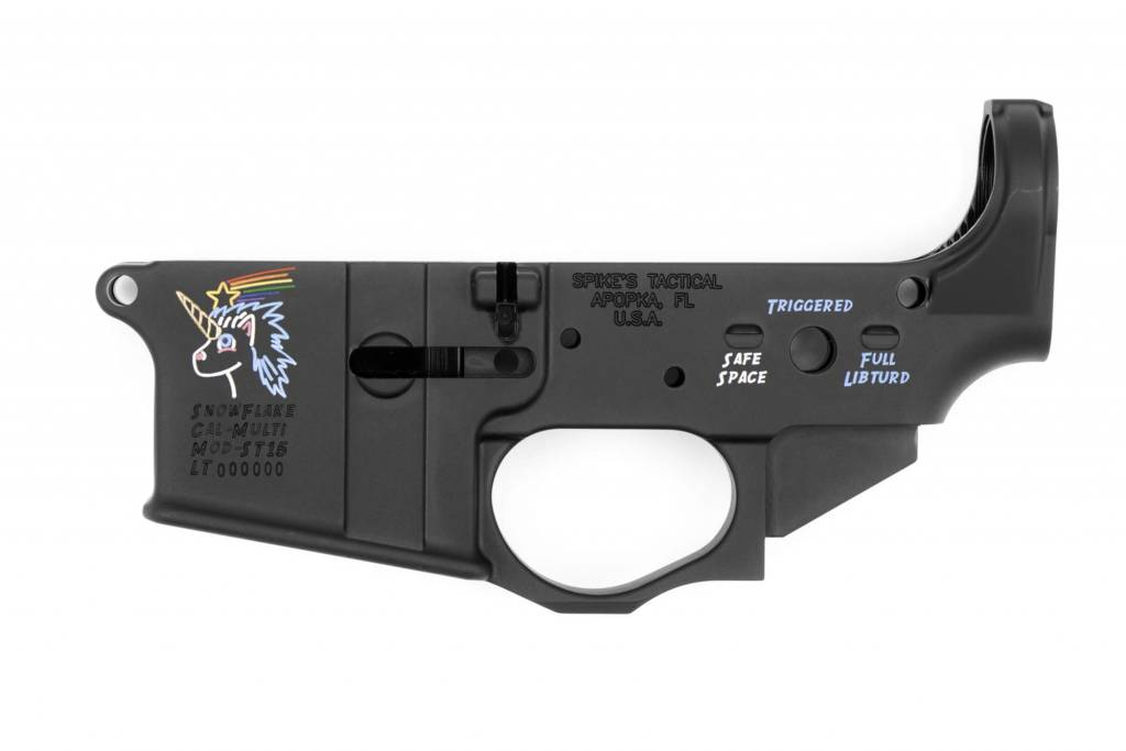 SPIKES TACTICAL SPIKE'S TACTICAL ST-15 SNOWFLAKE STRIPPED LOWER COLORFILL