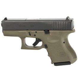 "GLOCK GLOCK 26 GEN 3 OD GREEN 9MM 3"" W/GLOCK NIGHTS 10RD"