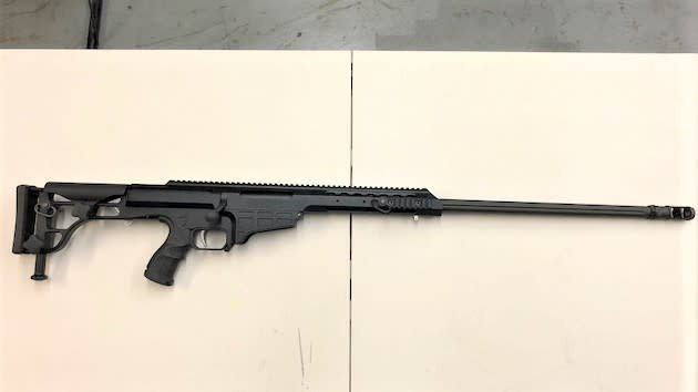 "BARRETT USED BARRET MRAD .338 26"" FLUTED BARREL W/COMP  NO MAG"