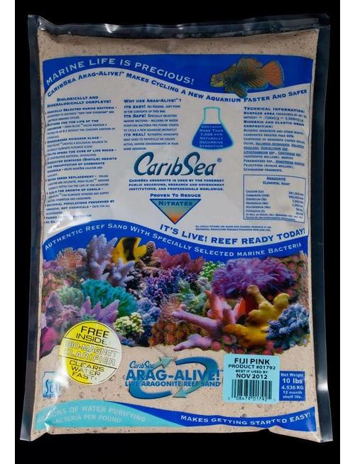 Carib Sea Caribsea Arag Alive Fiji Aquarium Sand 10 Pound Pink 008479017925