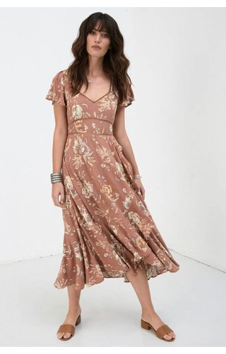 SPELL AND THE GYPSY COLLECTIVE SPELL ROSA GARDEN PARTY DRESS