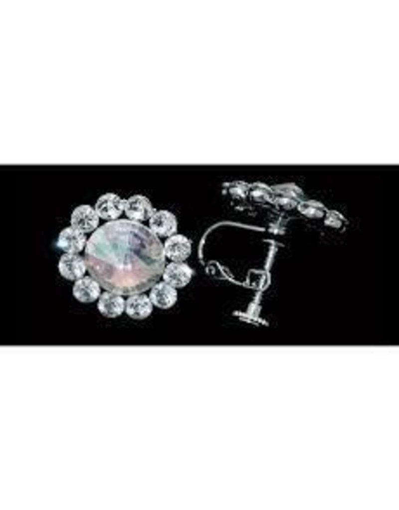 Glitter Pie - Flower Earrings AB, Clip