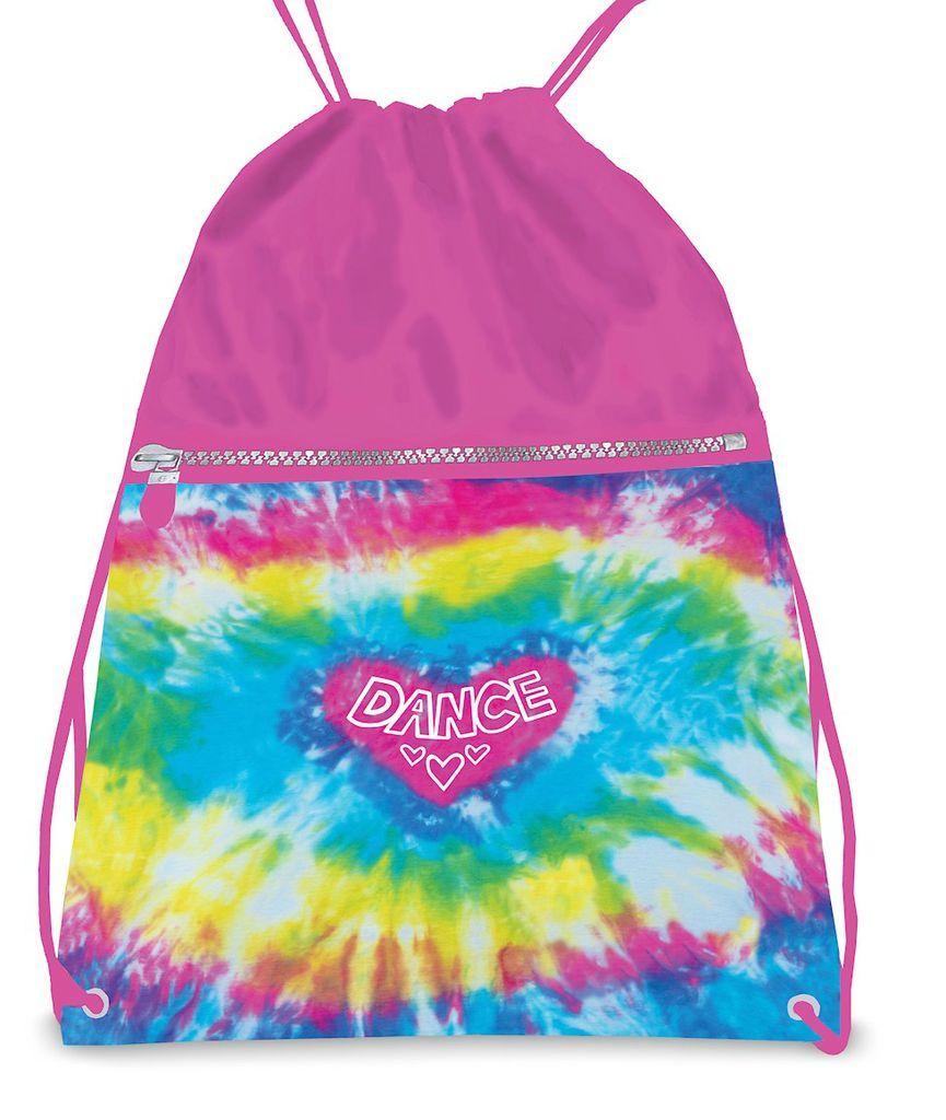 DANSHUZ Love Tie Dye Drawstring Backpack