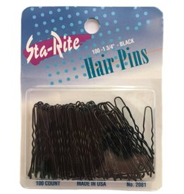 "BLACK HAIRPINS, 1-3/4"" QTY 100"