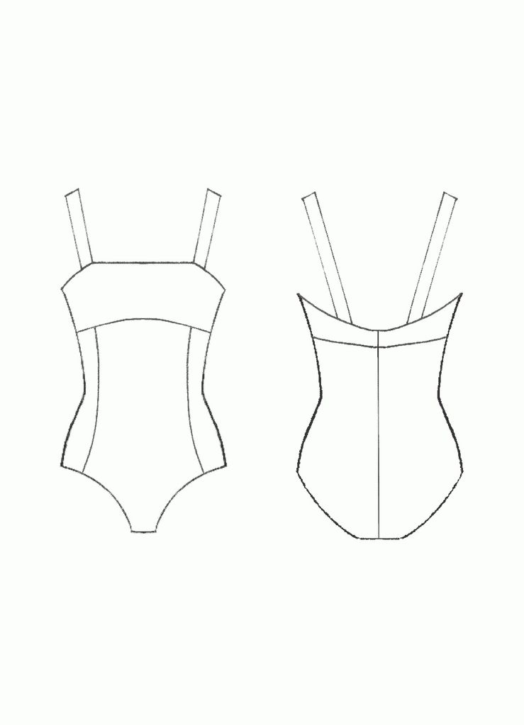 GIRLS SQUARE NECK by Ainsliewear