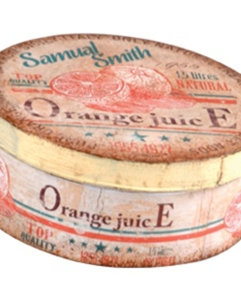 Caja Metálica Redonda Orange Juice