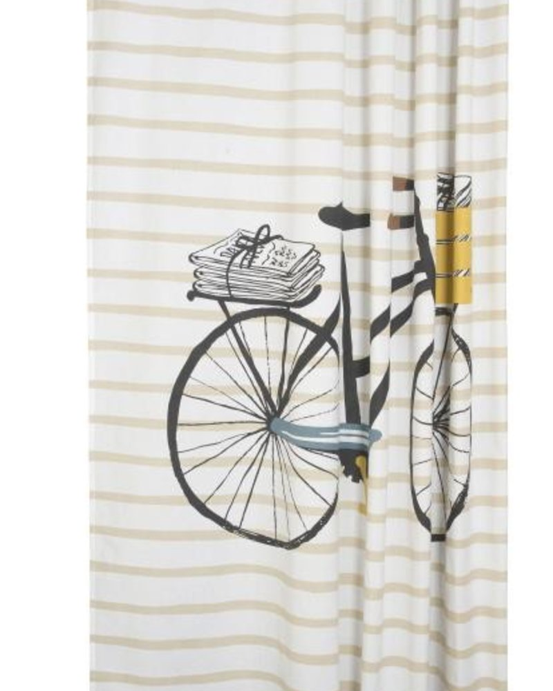 cortina de baño  bicicleta