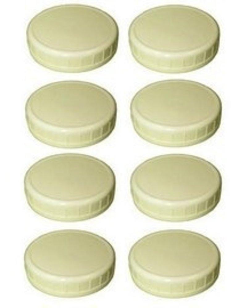 Caja con 8 Tapas Ball de Plástico Boca Ancha