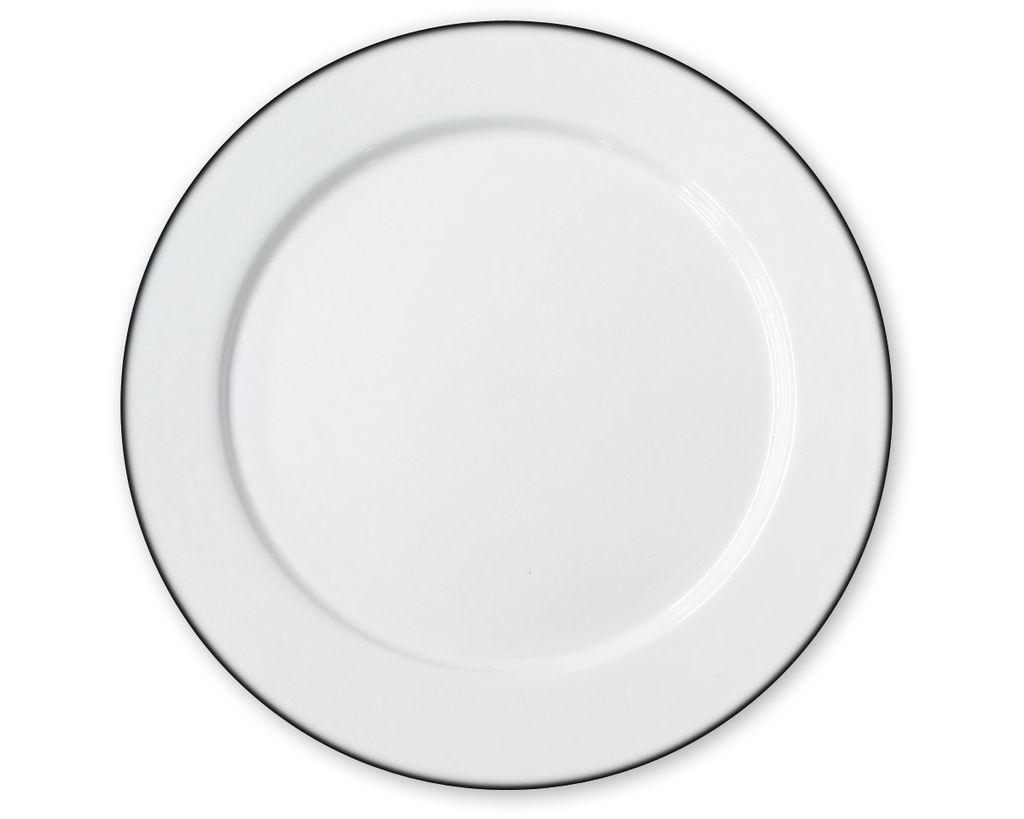 Plato peltre blanco con filo negro ao16 for Plato blanco