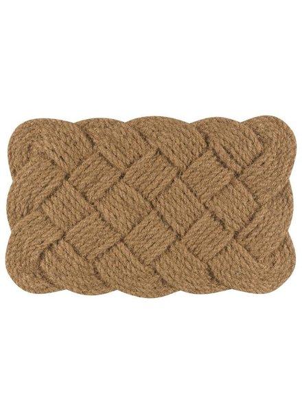 Tapete de entrada fibra de coco tejida