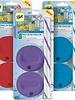 tapas de colores con popotes para frascos ball boca ancha x4