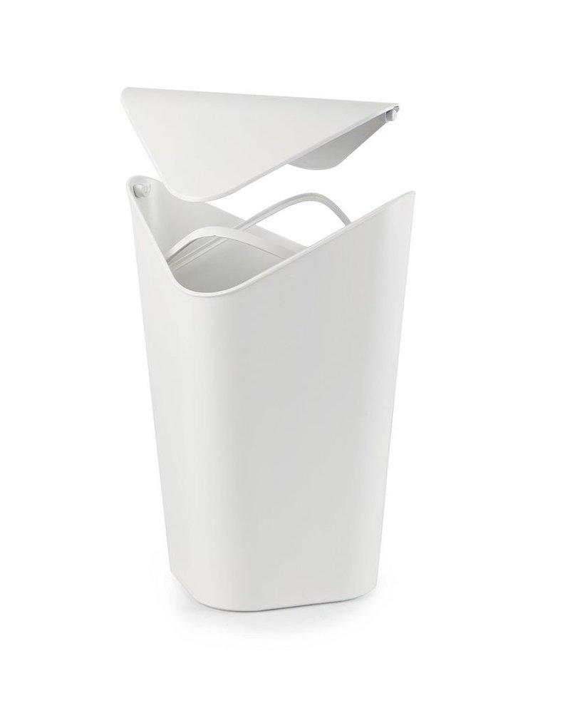Bote de basura corner blanco