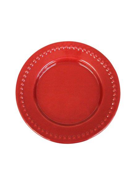 Plato Peltre No.16 Troquelado Rojo
