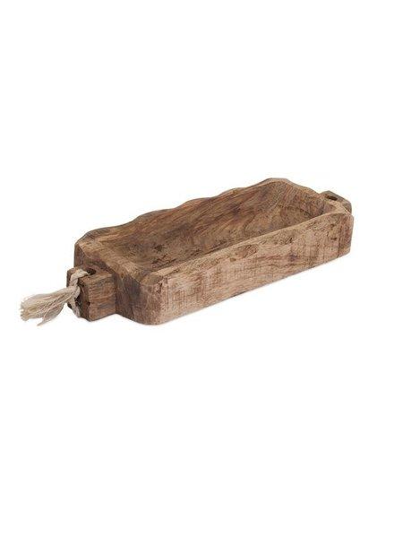 Charola rectangular  de madera almira