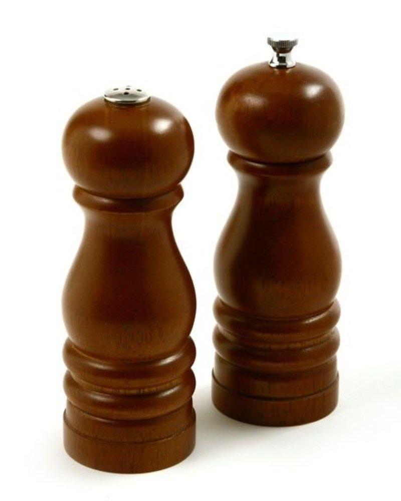 """Salero y molino de pimiento de madera walnut 6"""""""