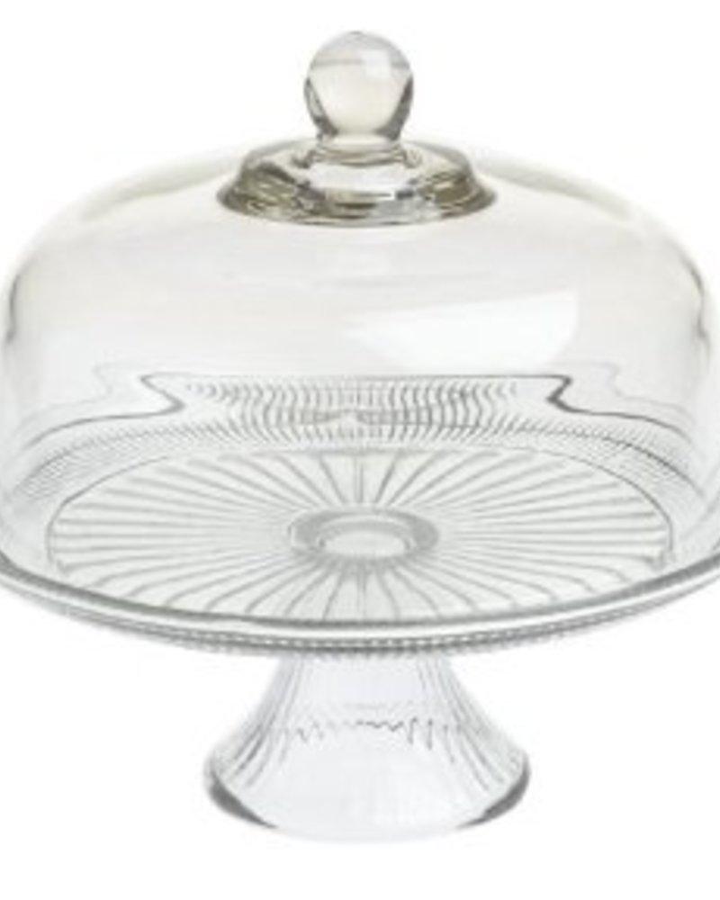 pastelero de vidrio con tapa canton