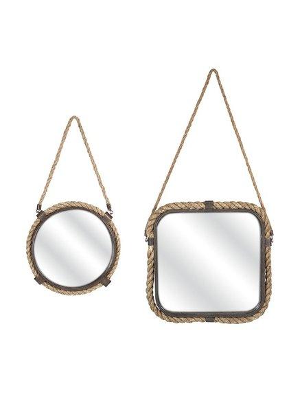 Set de 2 espejos yute