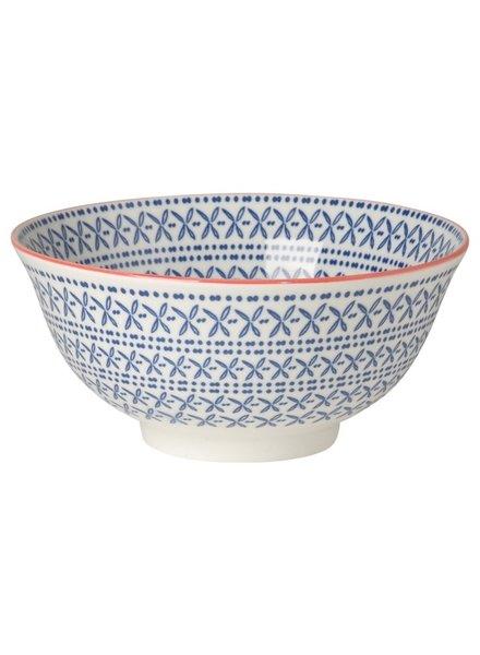 bowl akita azul - rojo