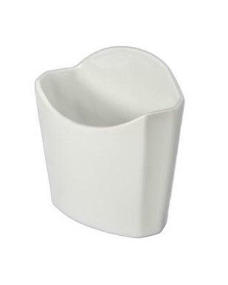 Recipiente para Papas Fritas de Ceramica de Blanca