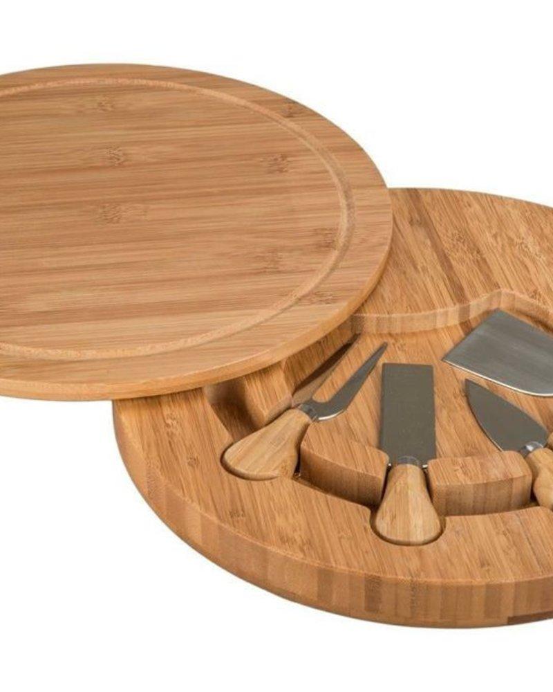 Tabla para Quesos de Bamboo + Cuchillo