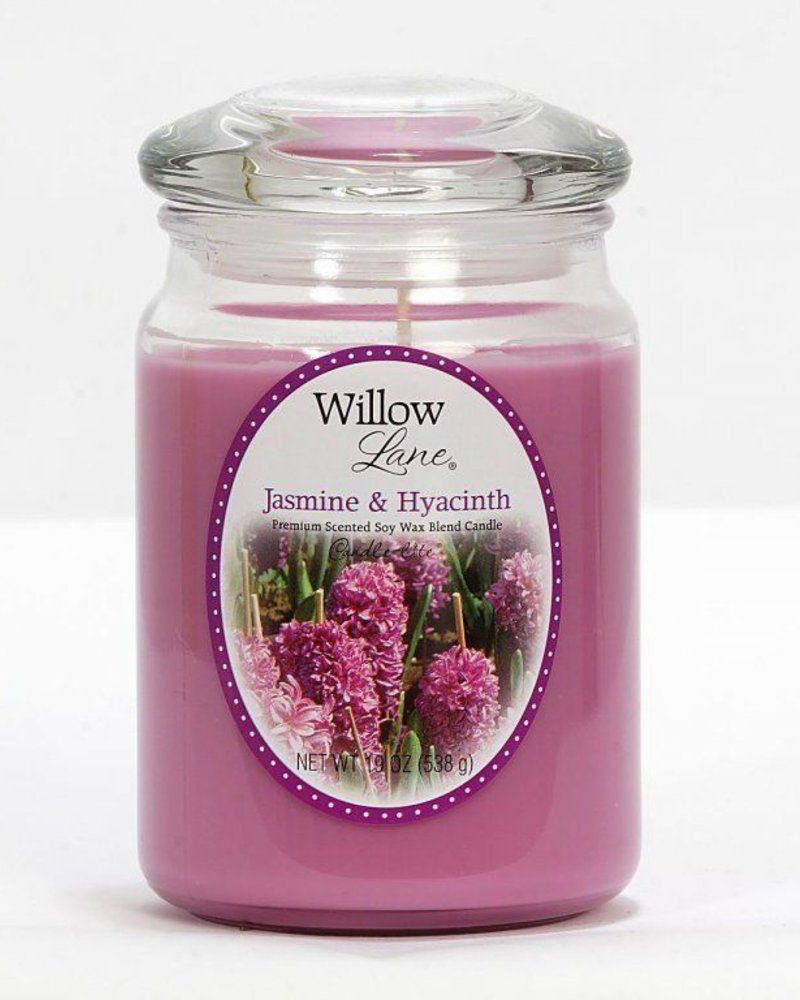 vela willow 19oz jasmin & hyacinth