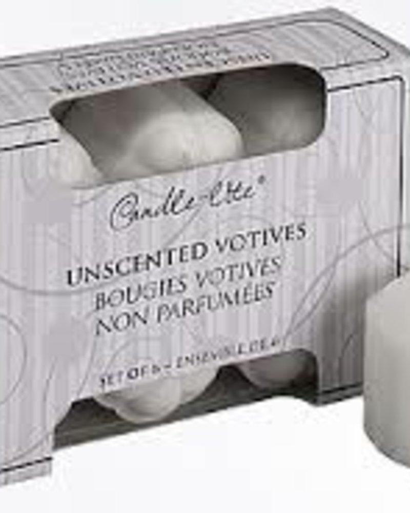 paquete con 6 vela votive 10hr sin olor
