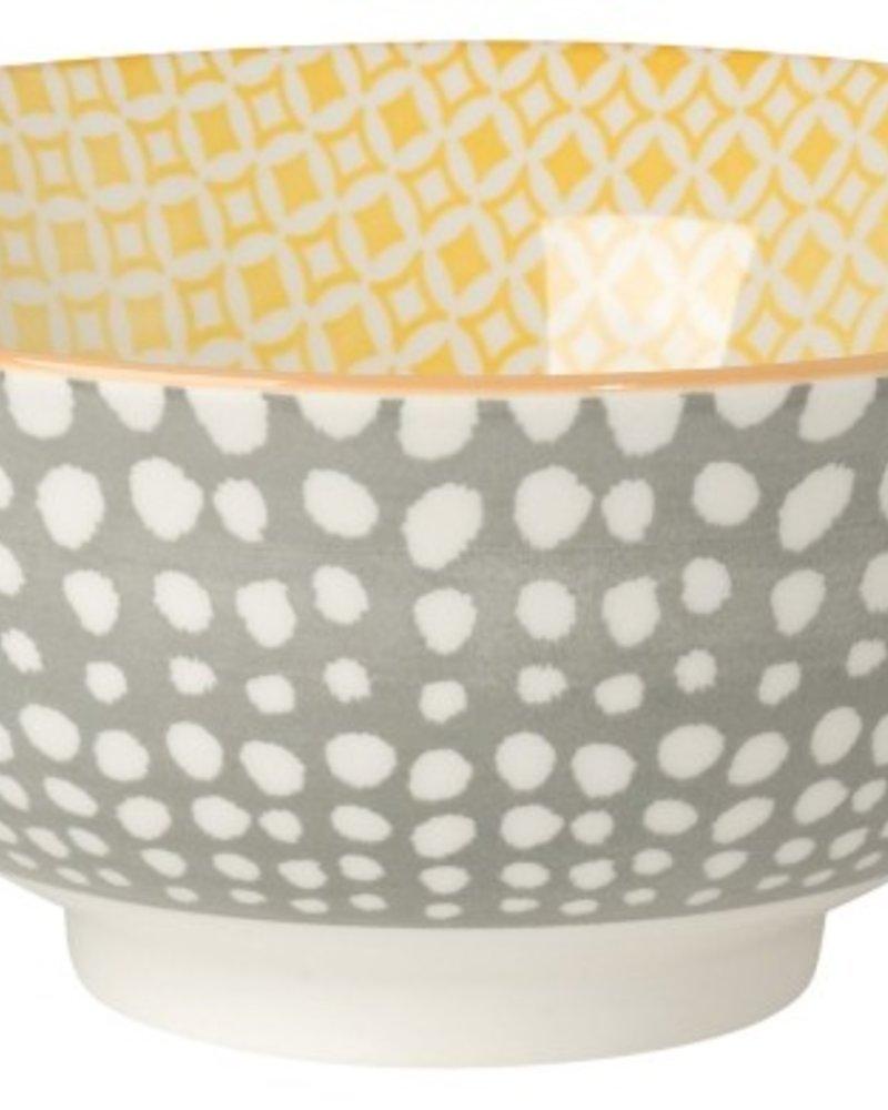 bowl akita gris- amarillo