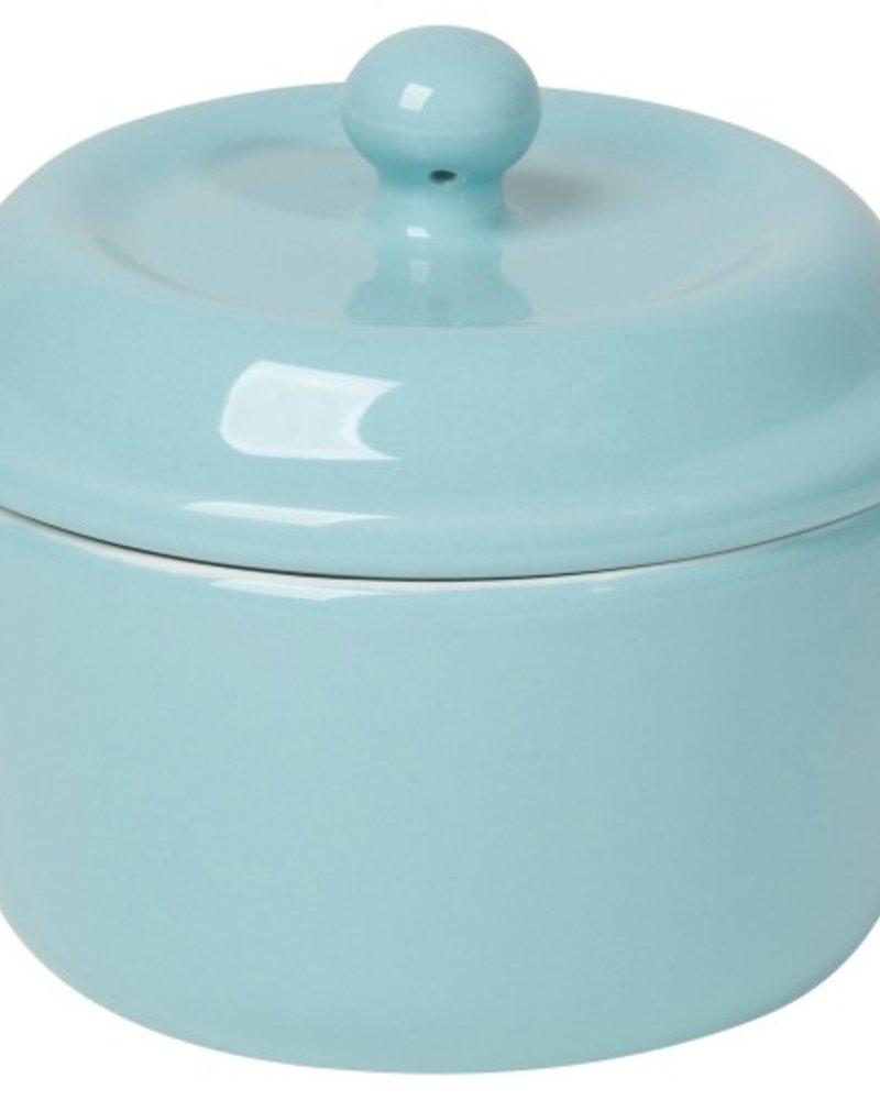 mini ollitas de ceramica baby blue