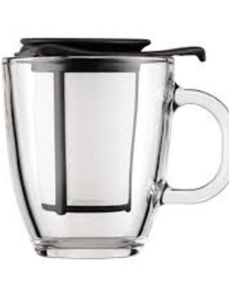 taza de de vidrio bodum con infusor