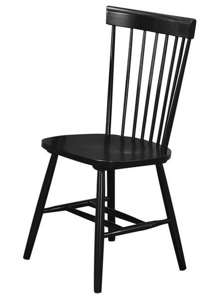 silla de comedor negra