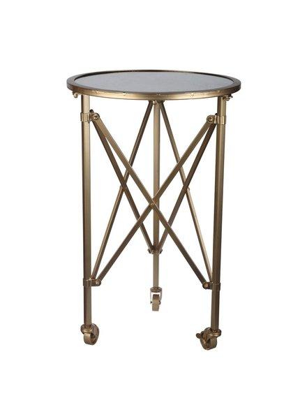 Mesa lateral Tennyson circular con ruedas