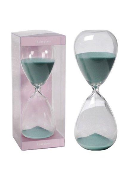 Reloj de arena color jade de una hora